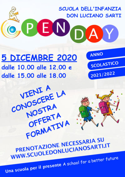 Poster open day INFANZIA